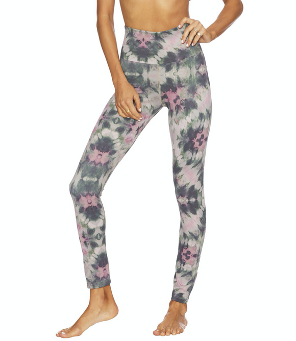 Beach Riot Piper Legging Four Leaf Clover Tie Dye