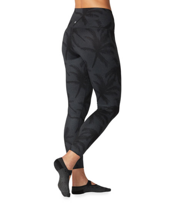 Tavi Noir High Waisted 7/8 Tight Charcoal Palm