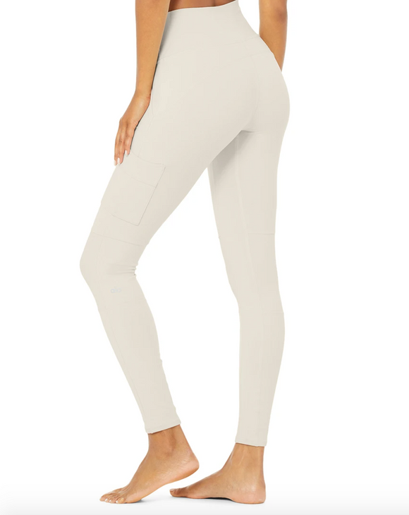 Alo High Waist Cargo Legging Bone