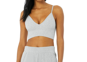 Alo Delight Bralette Dove Grey Heather