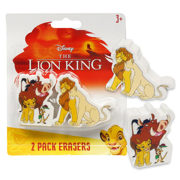 2 pack lion king erasers