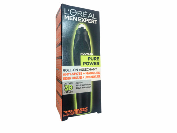 LOREAL 10mL men expert pure power targeting roll-on-Skincareuniqqy