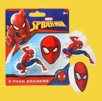2 Pack Spiderman Eraser-eraseruniqqy