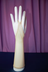 Nude Mesh Glovelettes or Gauntlets, perfect  illusion Fingerless Gloves.
