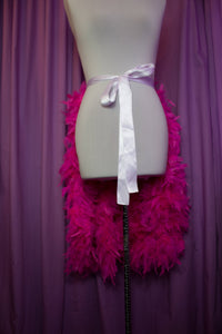 feather bustle skirt in knee length, great strip tease burlesque costume