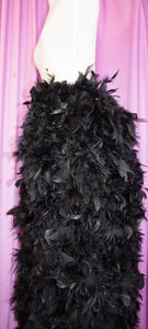 Feather bustle floor length- extra wide around the waist, great showgirl burlesque costume