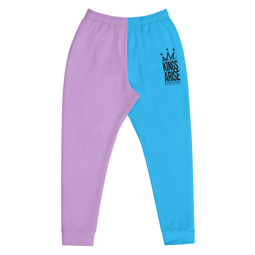 Black Weirdo Slim Fit Joggers (Cotton Candy)