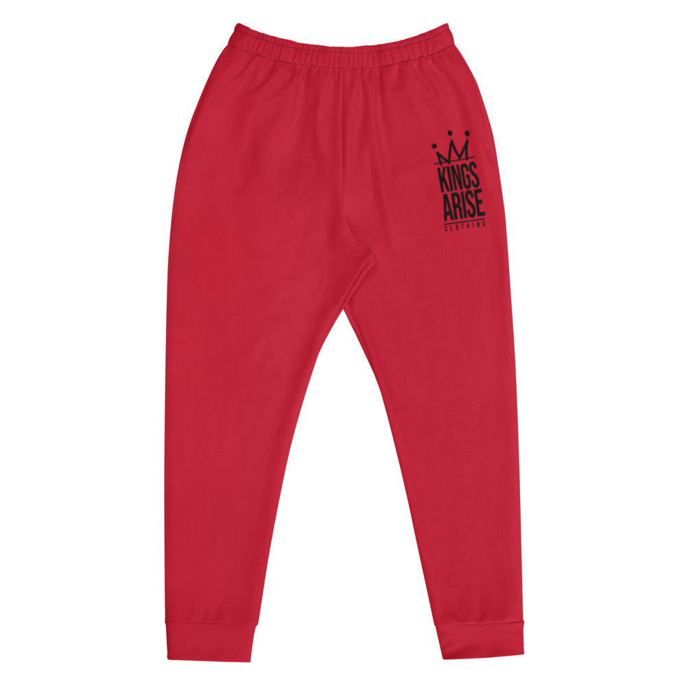 Black Weirdo Slim Fit Joggers (Candy Apple Red)