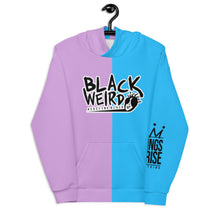 Load image into Gallery viewer, Black Weirdo Unisex Hoodie (Cotton Candy)