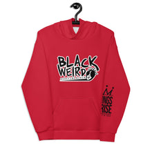 Load image into Gallery viewer, Black Weirdo Unisex Hoodie (Candy Apple Red)