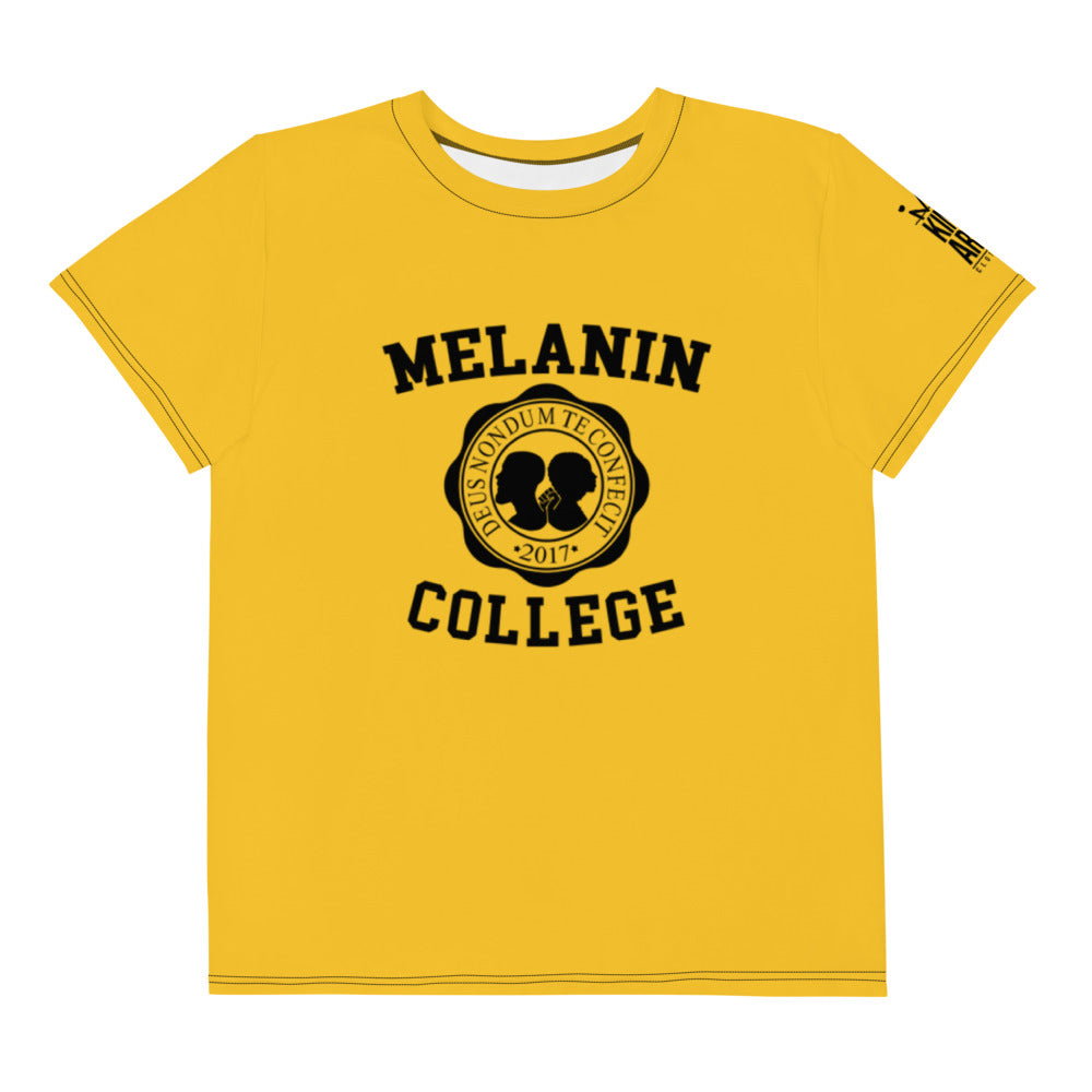 Melanin College Youth crew neck t-shirt