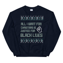 Load image into Gallery viewer, All I Want Ugly Christmas Unisex Sweatshirt