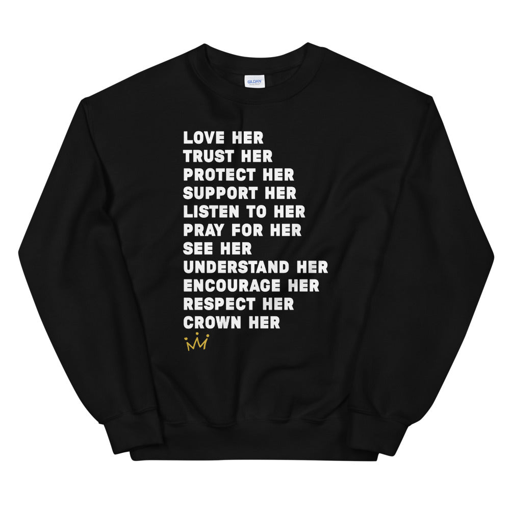Crown Her Unisex Sweatshirt