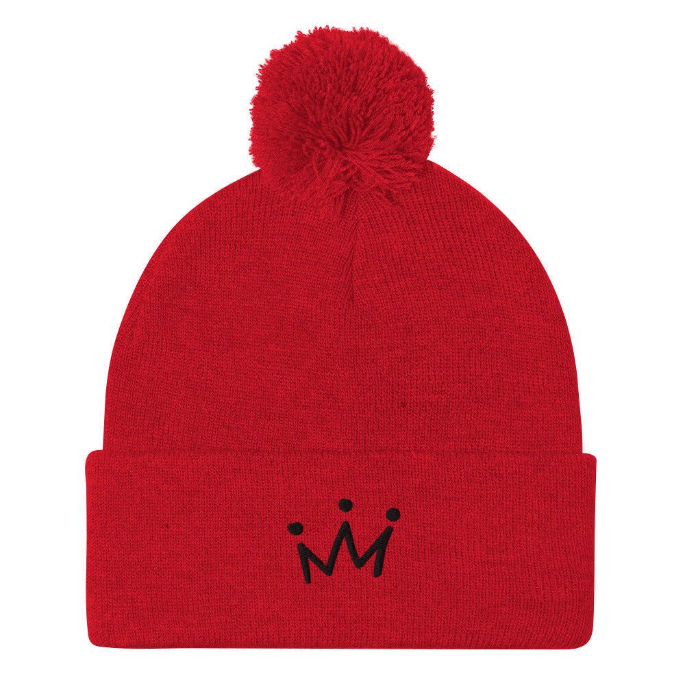 KA Signature Crown Pom-Pom Beanie