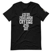 Load image into Gallery viewer, Care Free Black Boys Are Short-Sleeve Unisex T-Shirt