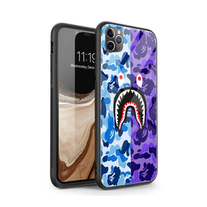 Blue/Purple Shark iPhone Case