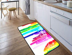 "Dripping Paint Rainbow ""DRAINBOW"" Floor Mat"