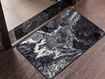 Black Marble Floor Mat