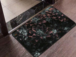 Dark Flowers Floor Mat