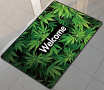 Welcome Pot Leaves Floor Mat