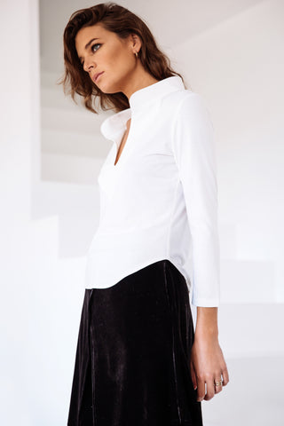 Neckline Shirt White