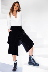Double Culotte Black Velvet
