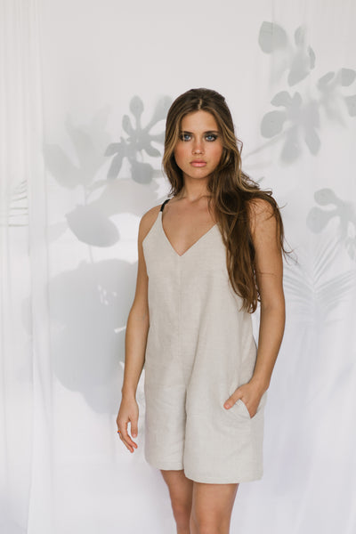 Short Jumpsuit Linen