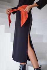 Long Jersey Dress Black
