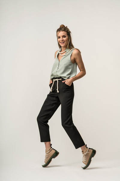 BOW Trousers Black