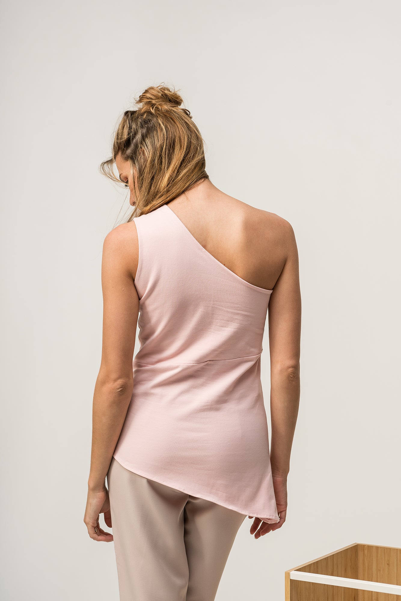 Asymmetrical Top Light Pink