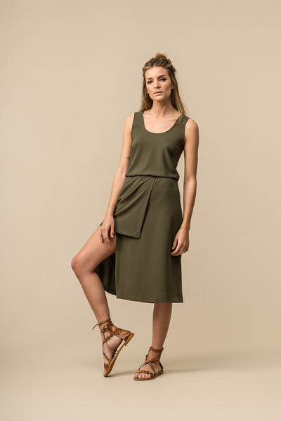 Slit Dress Green