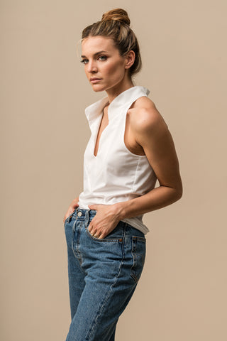 Collar Top White