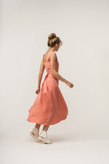 Crossed Dress Coral
