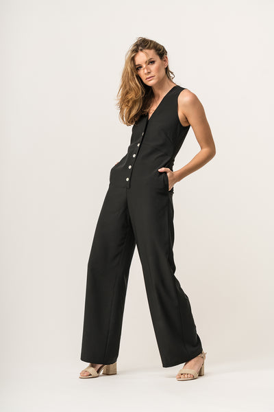 BOW Jumpsuit Black