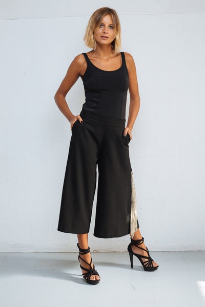 Fringe Trousers black
