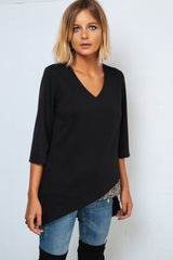 Asymetric black Shirt