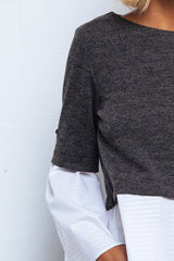 Sleeve Shirt grey