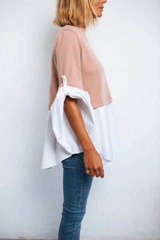 Sleeve Shirt soft pink