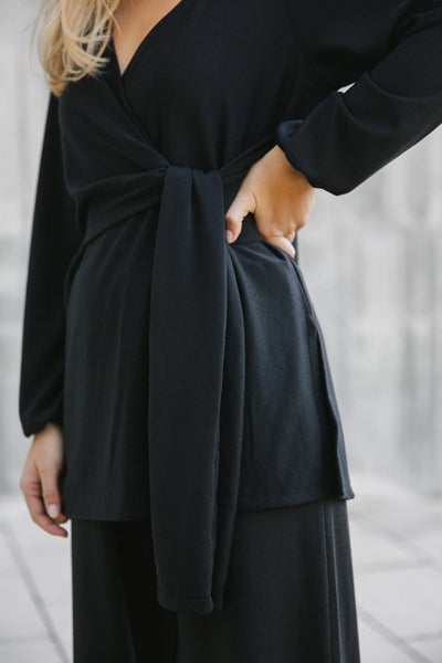 Wrap Sweater Black
