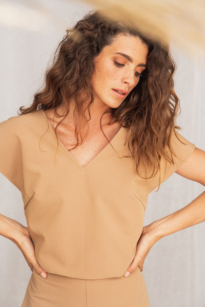 Land Jumpsuit Camel