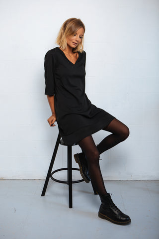 Hem Dress black
