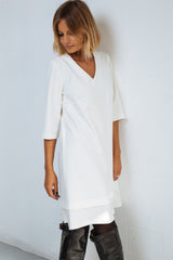 Hem Dress white