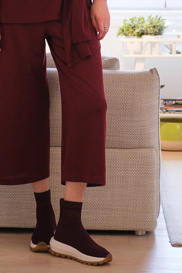Knit trousers Bordeaux