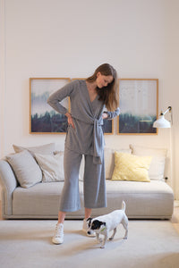 Knit trousers grey