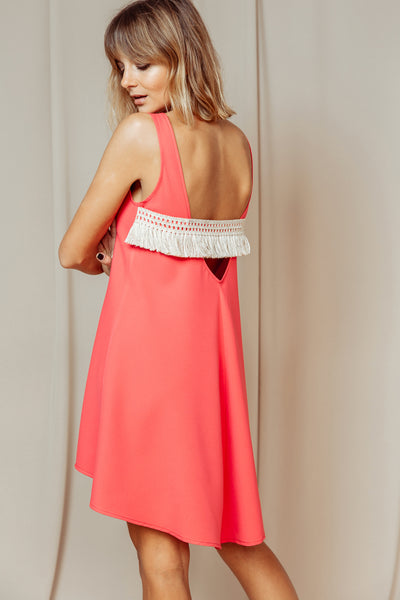 Shadow Dress coral
