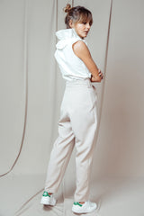 Round Trousers beige