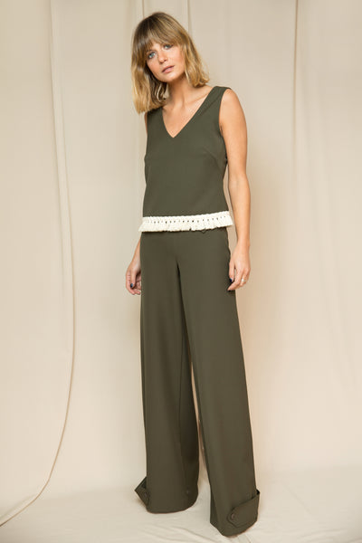 Fluid Trousers green
