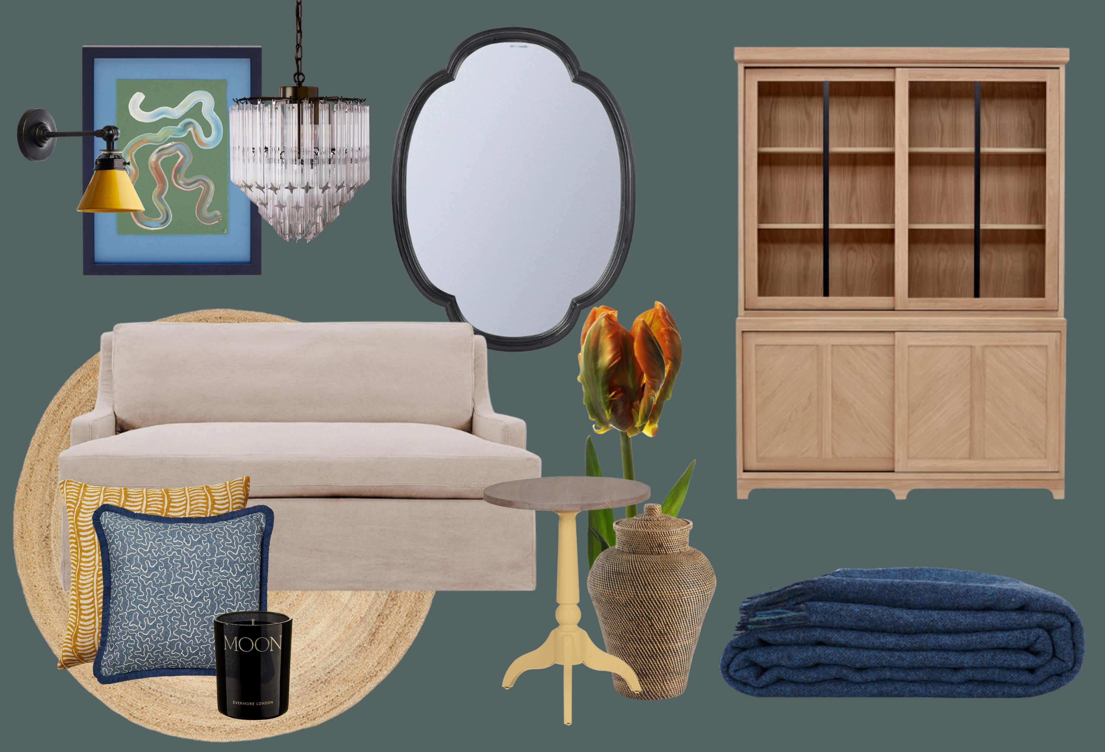 Styling Notes: Farrow & Ball's Inchrya Blue Paint