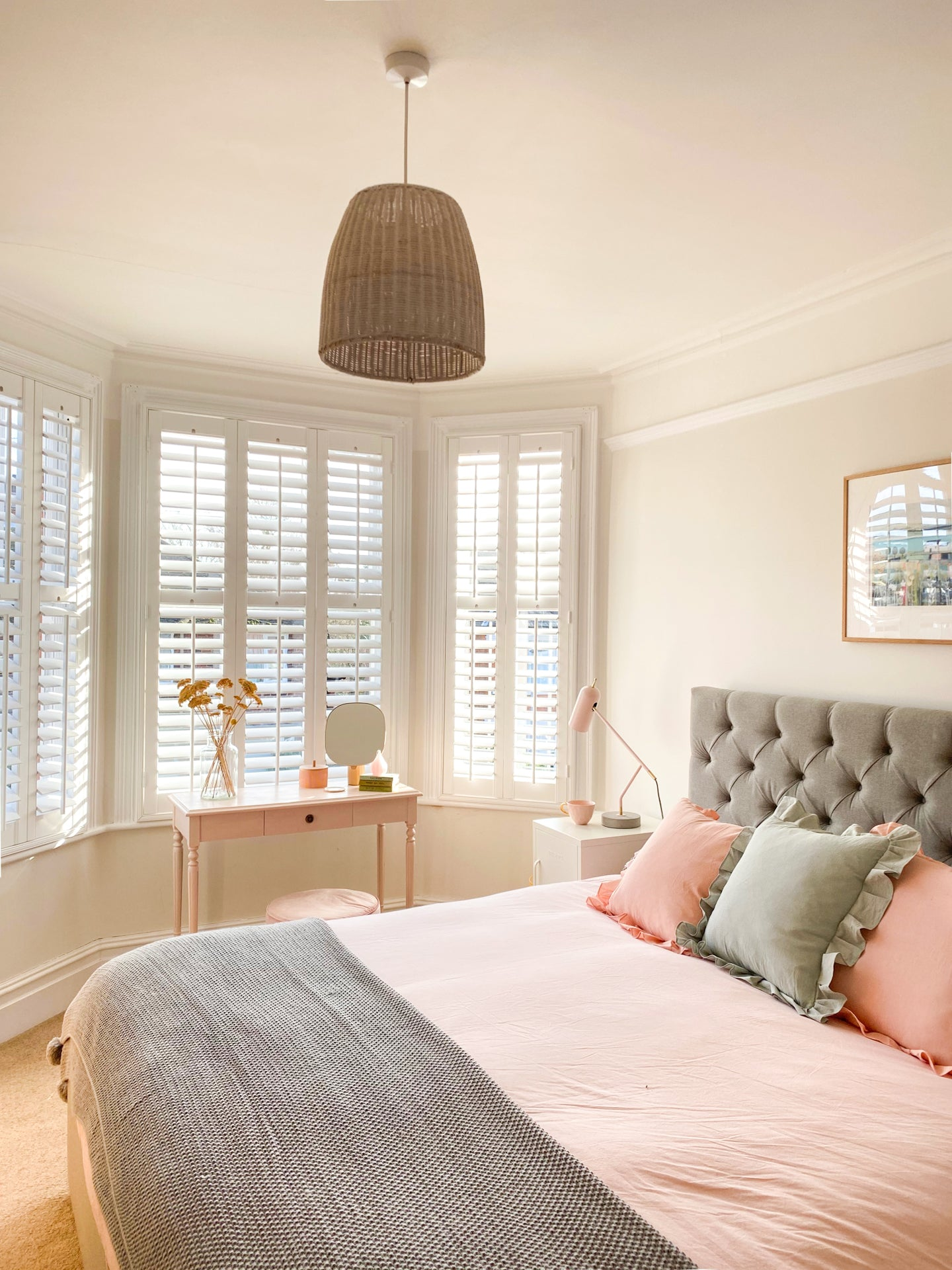 Clement Browne Bay Window Shutters At Home With Rose Instagram Interiors Influencer