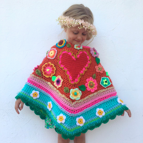 Crochet Pattern Poncho by Pollevie